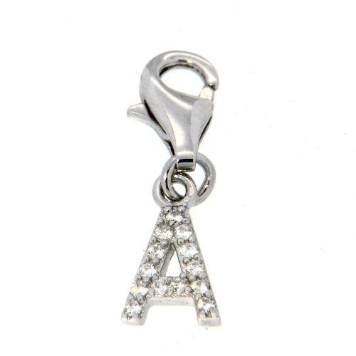 Buchstaben-Charm A Silber 925 rhodiniert