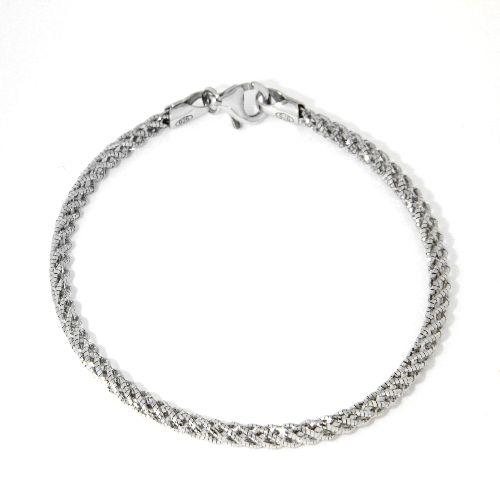 Armband Silber 925 rhodiniert 19 cm