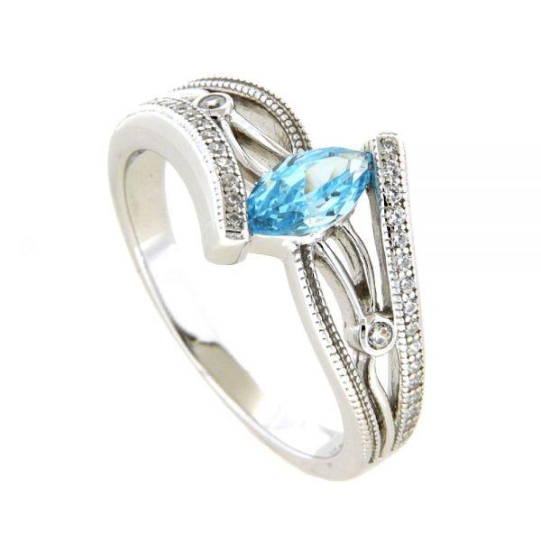 Ring Silber 925 rhodiniert Weite 60