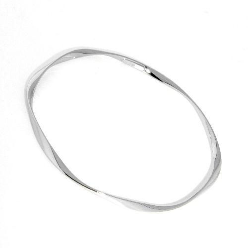 Armreif Silber 925 rhodiniert 65mm