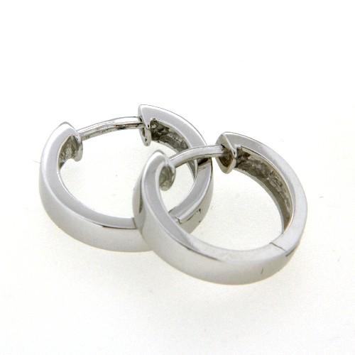 Scharniercreolen Silber 925 rhodiniert 3 mm x 14,5 mm kantig