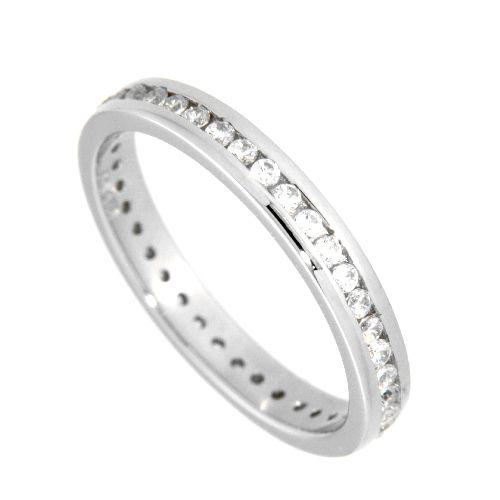 Ring (Memoire) Silber 925 rhodiniert Weite 56