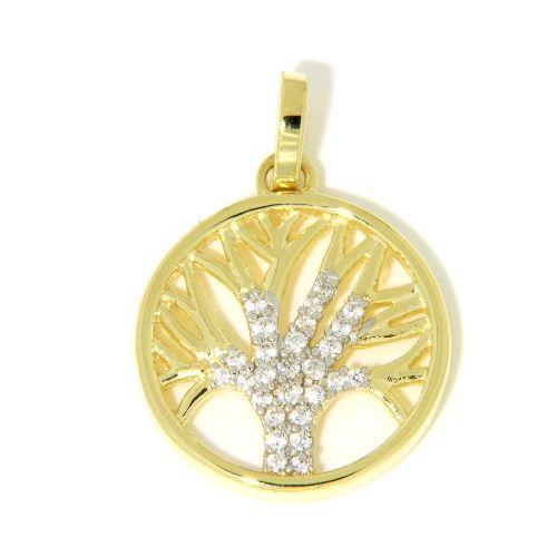 Anhänger Gold 333 Zirkonia Lebensbaum
