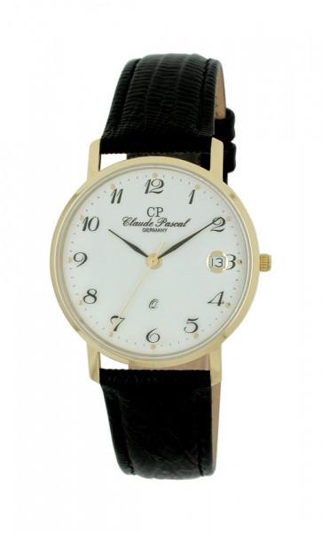 Claude Pascal Armbanduhr Herren Gold 585 394280 EAP