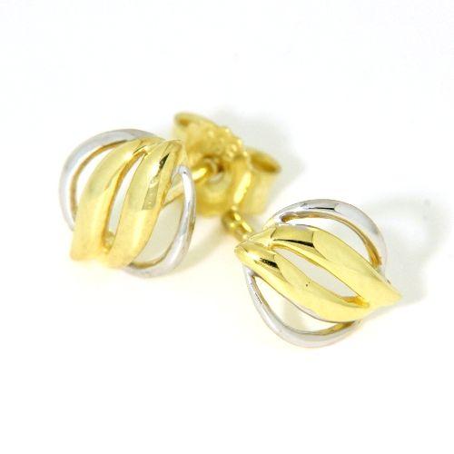 Ohrstecker Gold 585 bicolor
