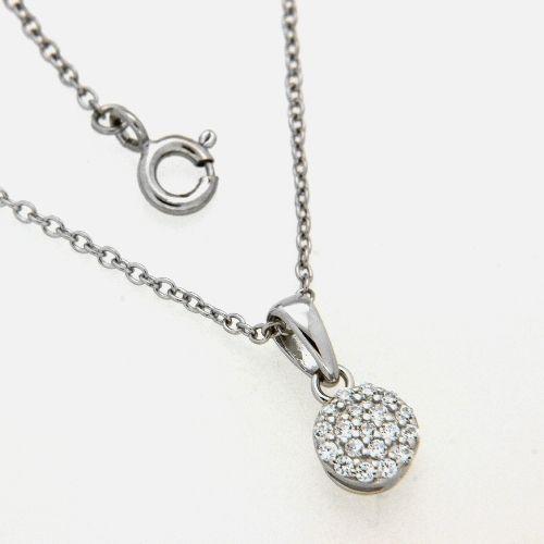 Kette mit Anhänger Silber 925 rhodiniert 42 cm+3 cm