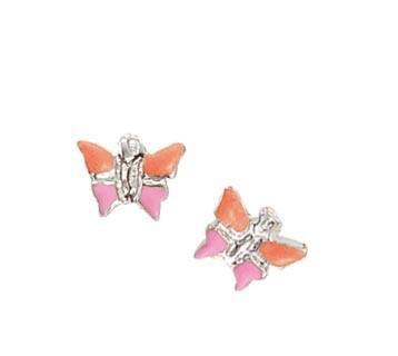 SCOUT Ohrschmuck silber, orange, rosa Schmetterlinge 262148100