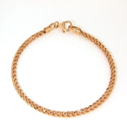 Armband Silber 925 rosé vergoldet 19 cm