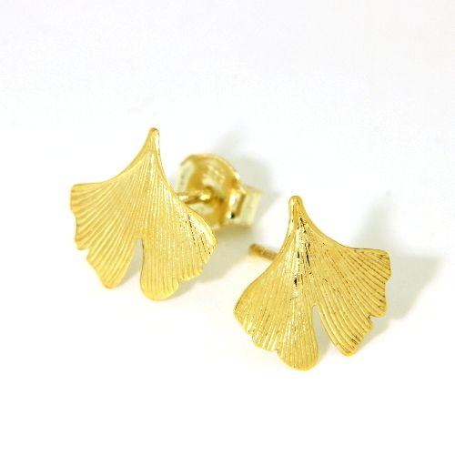 Ohrstecker Gold 333 Ginkgoblatt