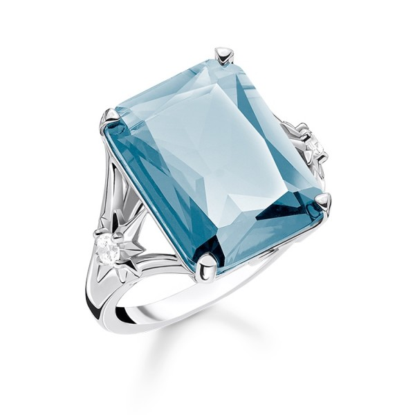 Thomas Sabo Ring Stein blau Größe 60 TR2261-644-31-60