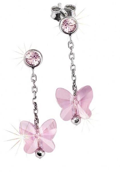 SCOUT Ohrschmuck rosa,silber Schmetterlinge 262163100