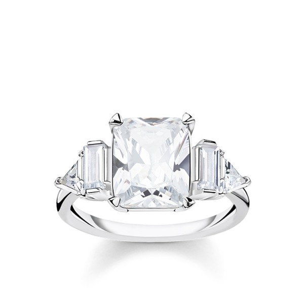 Thomas Sabo Ring weiße Steine Größe 56 TR2262-051-14-56