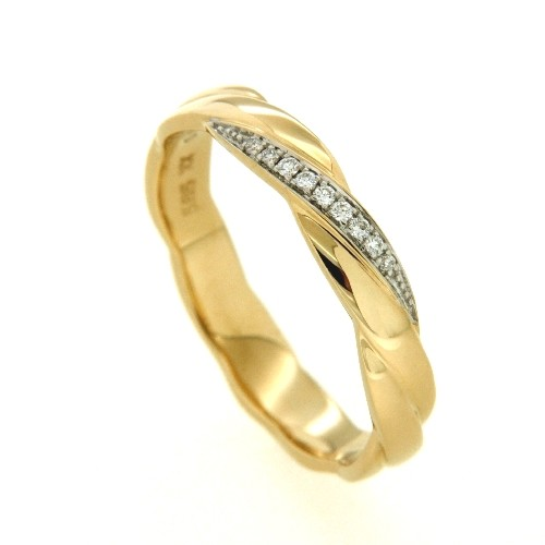Ring Gold 585 Brillant 0,04 ct. w/si Weite 51