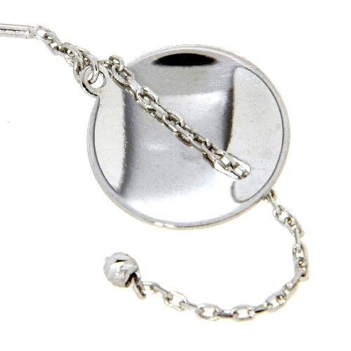 Ohrdurchzieher Silber 925 rhodiniert mit Bügel