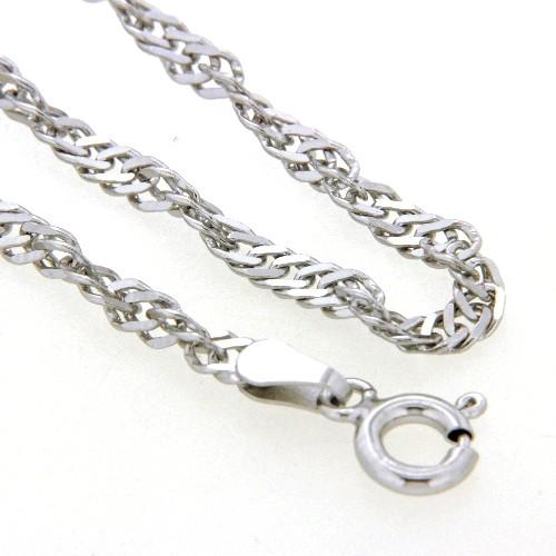 Singapurfußkette (S50) Silber 925 rhodiniert 25-27 cm