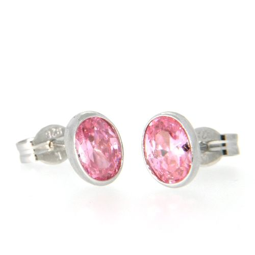 Ohrstecker Silber 925 rhodiniert pink