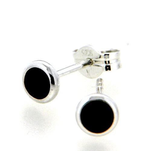 Ohrstecker Silber 925 Zirkonia schwarz