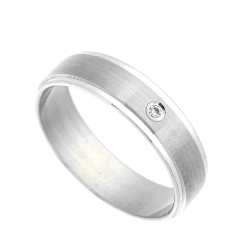 Freundschaftsring Silber 925 Zirkonia Breite 5 mm Weite 48