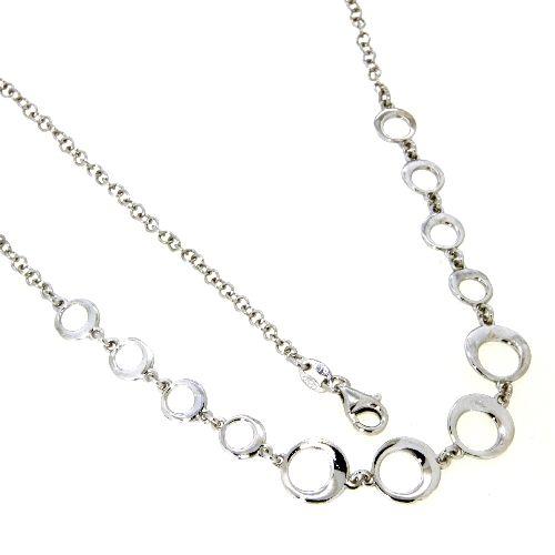 Kette Silber 925 rhodiniert 43 cm + 3 cm