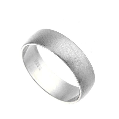 Freundschaftsring Silber 925 Breite 6 mm Weite 50