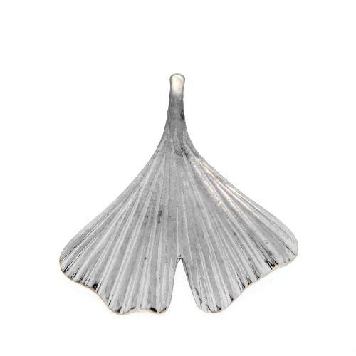 Anhänger Silber 925 rhodiniert Ginkgoblatt