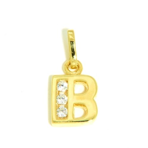 Buchstaben-Anhänger B Gold 333