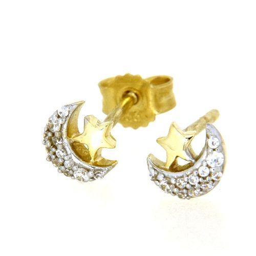 Ohrstecker Gold 333 Mond & Stern