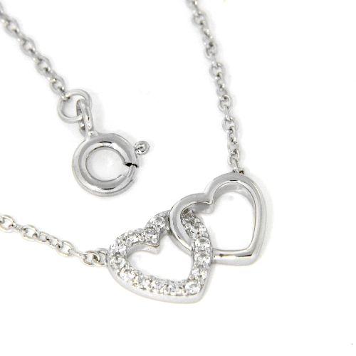 Collier Silber 925 rhodiniert 42 cm + 3 cm