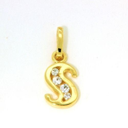 Buchstaben-Anhänger S Gold 333