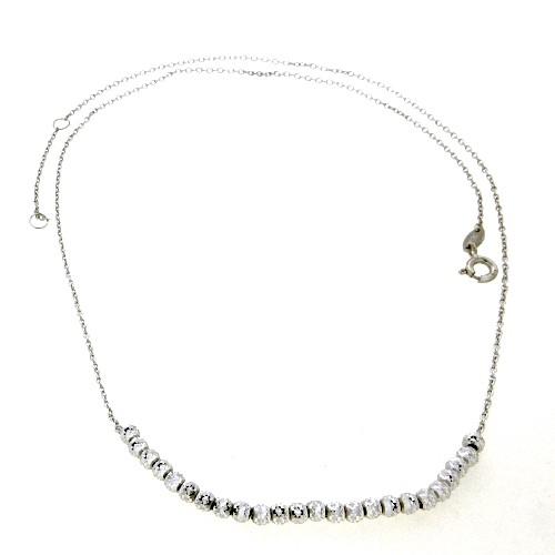 Kette Silber 925 rhodiniert 45 cm