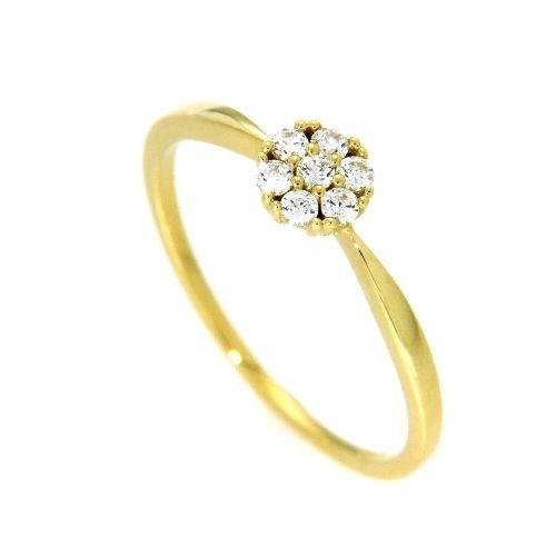 Ring Gold 333 Zirkonia Weite 50
