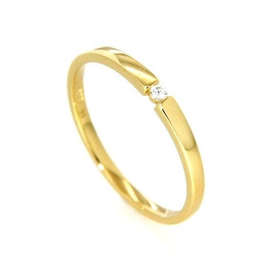 Ring Gold 585 Brillant 0,03 ct. Weite 51