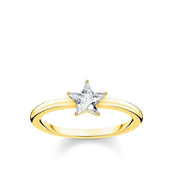 Thomas Sabo Ring Stern vergoldet Größe 60 TR2270-414-14-60