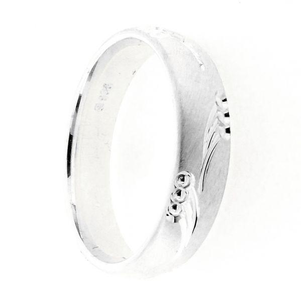 Freundschaftsring Silber 925 Breite 5 mm Weite 62