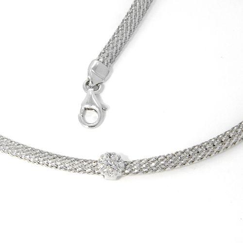 Collier Silber 925 rhodiniert