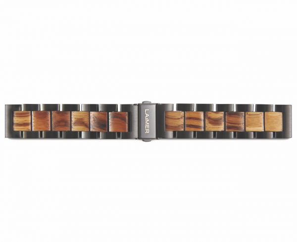 LAiMER Uhrband Zebranoholz 20 mm UB89