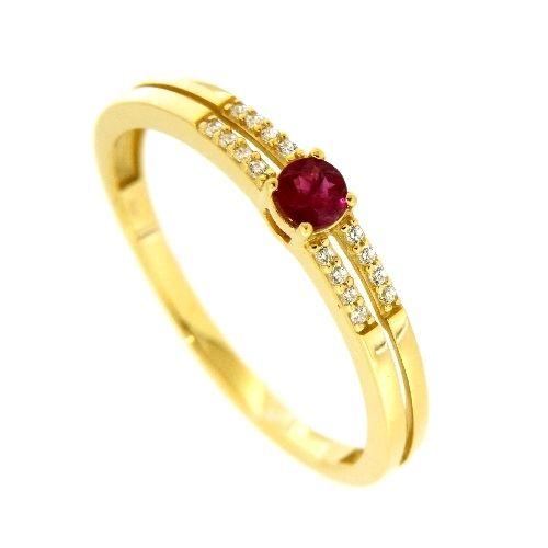 Ring Gold 333 Zirkonia Rubin Weite 64