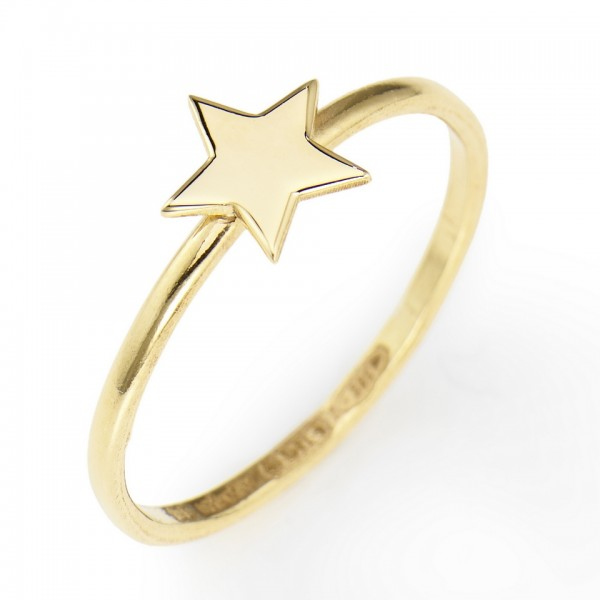 AMEN Ring Silber Stern Gr. 54 ASG-14