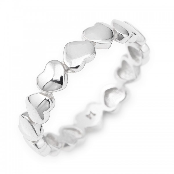 AMEN Ring Silber Herz Gr. 52 RHH-12