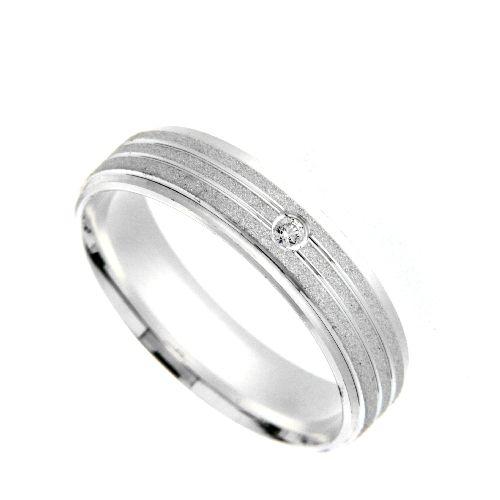 Freundschaftsring Silber 925 Zirkonia Breite 5 mm Weite 70