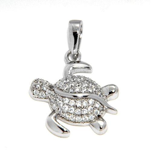Anhänger Silber 925 rhodiniert Schildkröte