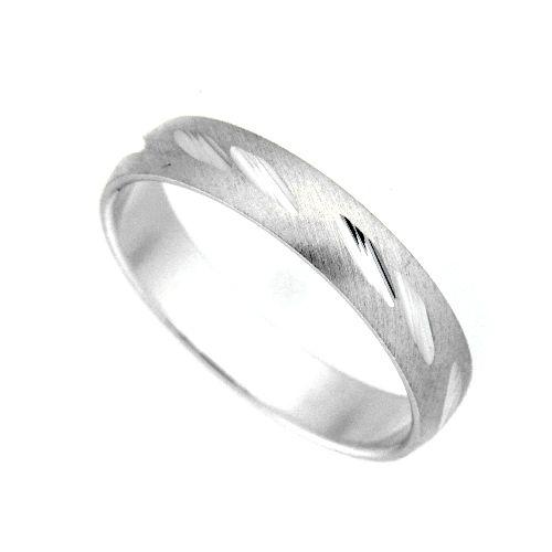 Freundschaftsring Silber 925 Breite 4 mm Weite 57