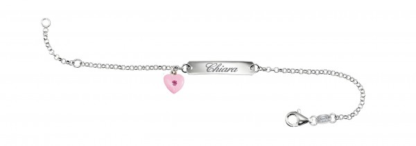 SCOUT Armband silber, rosa Herz 260244100
