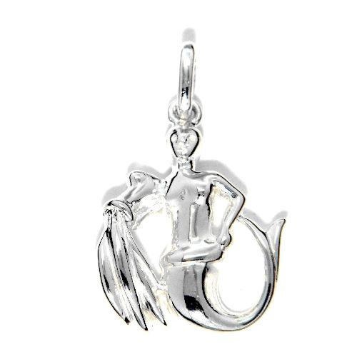 Tierkreiszeichen Silber 925 Wassermann rhodiniert
