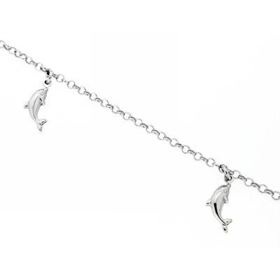 Fußkette Silber 925 rhodiniert