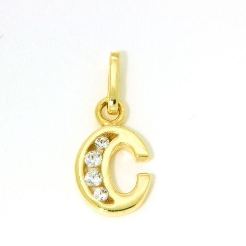 Buchstaben-Anhänger C Gold 333