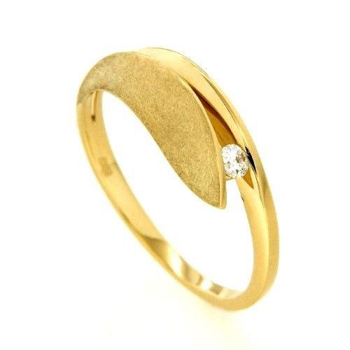 Ring Gold 585 Brillant 0,07 ct. Weite 58