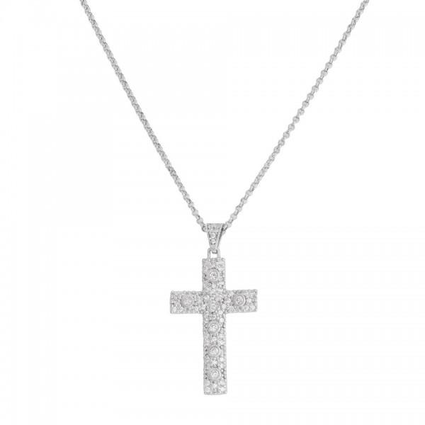 AMEN Kette 40 + 5 cm Silber CCZBB