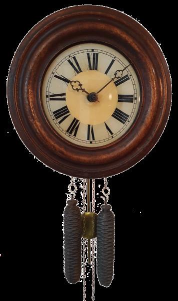 Antike Schwarzwald Rundrahmen-Uhr