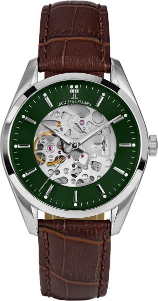Jacques Lemans Herren-Armbanduhr Derby Automatic 1-2087B
